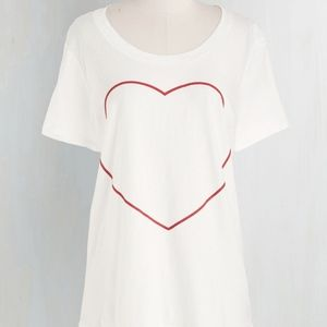 New Modcloth Your Heart's Content Tee